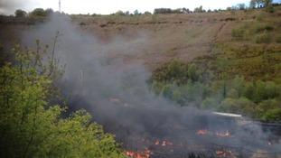Fire in Blaenau Gwent