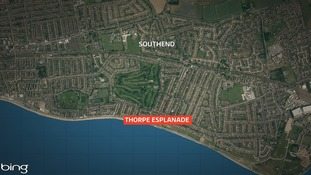 The fire happened at Thorpe Bay Esplanade in Southend yesterday evening.