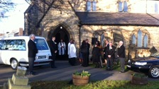 Funeral of boy hit by bus