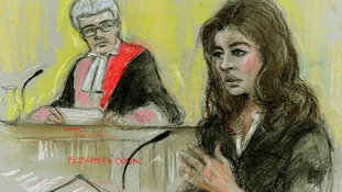 A court sketch of Nigella Lawson giving evidence at Isleworth Crown Court in London.