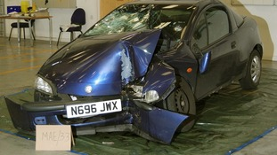 The jury was shown a photo of the Vauxhall Tigra allegedly used during Fusilier Lee Rigby's killing.