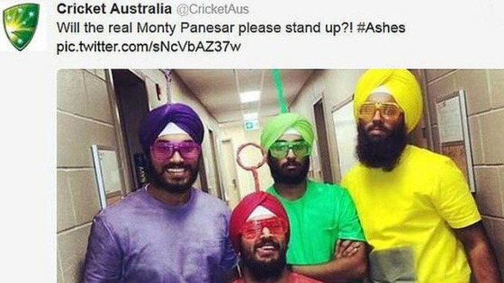 The offensive tweet has since been deleted by Cricket Australia.