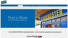 Blockbuster plunged into administration twice in 2013.