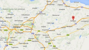 Bathgate is around 20 miles east of Glasgow