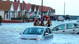 Rhyl floods: Clean-up underway