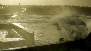High winds and sea batter the North Antrim coast at Portstewart, in Co Antrim.