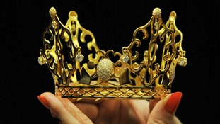 The gold and diamond tiara.