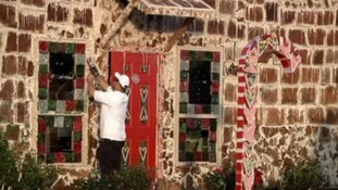 A Texas university has built the biggest gingerbread house.