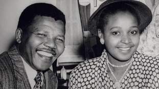 A young Nelson Mandela with his then-wife Winnie.