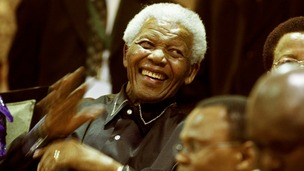 Nelson Mandela during the opening of Parliament in 2010.