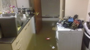 The scene inside the flat belonging to one of our viewers, Mark Mccormic, this morning in Lowestoft.
