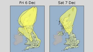 The Met Office severe weather warnings for Friday and Saturday