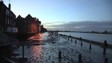 A scene of tranquility in King's Lynn this morning after last night's surge.