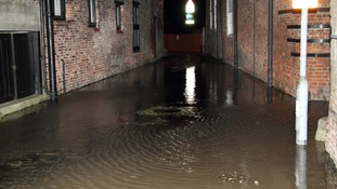 A King's Lynn back street is submerged.