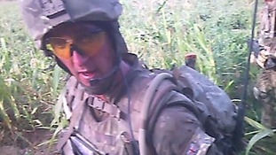 The shooting of the injured Afghan insurgent was filmed by a camera on Marine B's helmet.