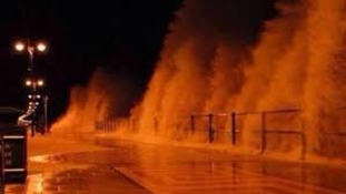 The storm hits Cleethorpes sea front