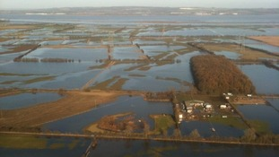 Flooding over north Lincolnshire, as air crews check for overhead power line network damage.