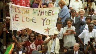 Nelson Mandela visits London, in pictures