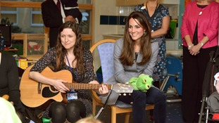 The Princess and the frog! Kate plays with hand puppet and sings nursery rhymes