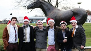 Barry McGrath entering into the festive spirit as part of his Stag Do
