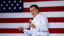 Republican presidential candidate Mitt Romney is up against opposition Rick Santorum