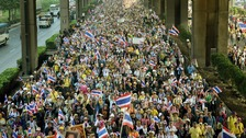 Thai parliament is dissolved amid Bangkok protests