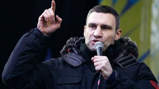 Heavyweight boxing champion and opposition leader, Vitali Klitschko