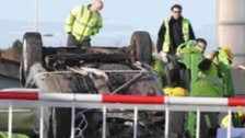 OAP crashes on lifting bridge