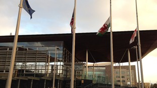 Senedd flags at half mast for Nelson Mandela