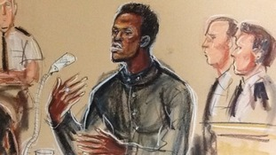 Court sketch of Michael Adebolajo.