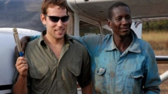 David Simpson (left), 24, is being detained in the Central African Republic after discovering bodies near a local river
