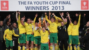 Norwich City lift the FA Youth Cup after beating Chelsea.