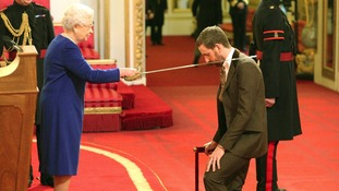 Sir Bradley Wiggins is knighted, feeling 'bit inferior'