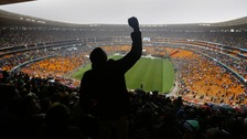 Thousands of mourners at Mandela memorial service