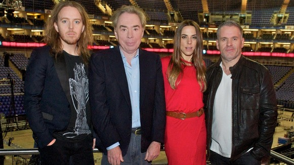 Cast members of the UK arena tour of Jesus Christ Superstar