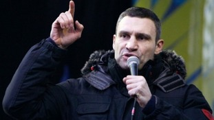 Heavyweight boxing champion and opposition leader, Vitali Klitschko.