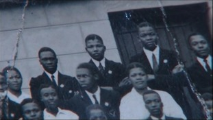 The first known picture of Nelson Mandela when at school.