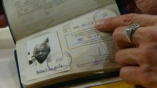 Nelson Mandela's passport.