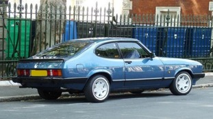 A blue Ford Capri, similar to the one spotted on the day Nicola went missing