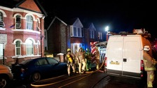 Cannabis factory flat fire in Worthing