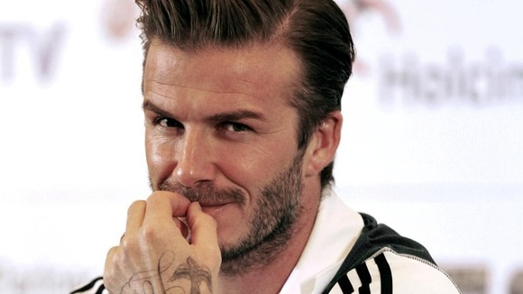 David Beckham is pictured at a news conference on November 28 2011