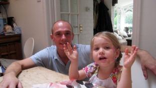 Julian Mynott and his daughter Florence