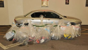 £40 million worth of Heroin was found crammed into this Jaguar car.