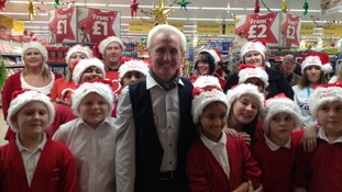 Tony Christie with some of his young fans