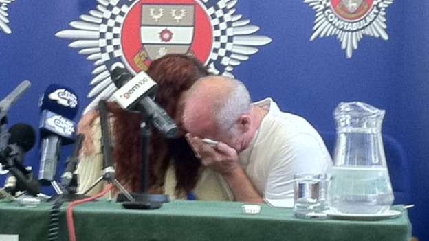 Mick & Mairead Philpott arrive at press conference