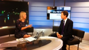 Nick Clegg talks to ITV News Anglia's Becky Jago.