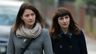 Sisters Elisabetta (left) and Francesca Grillo deny a charge each of committing fraud