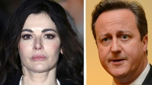 Celebrity cook Nigella Lawson and Prime Minister David Cameron