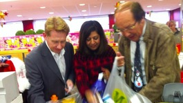 Fred, Sangeeta and Simon do their bit for Text Santa!