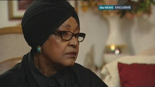 Nelson Mandela's former wife Winnie Mandela speaks to ITV News.